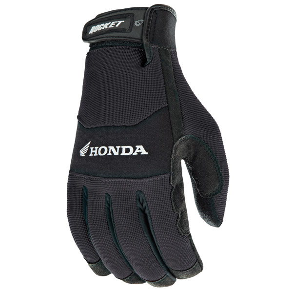 Joe Rocket Men's Honda Crew Touch Textile Black Gloves