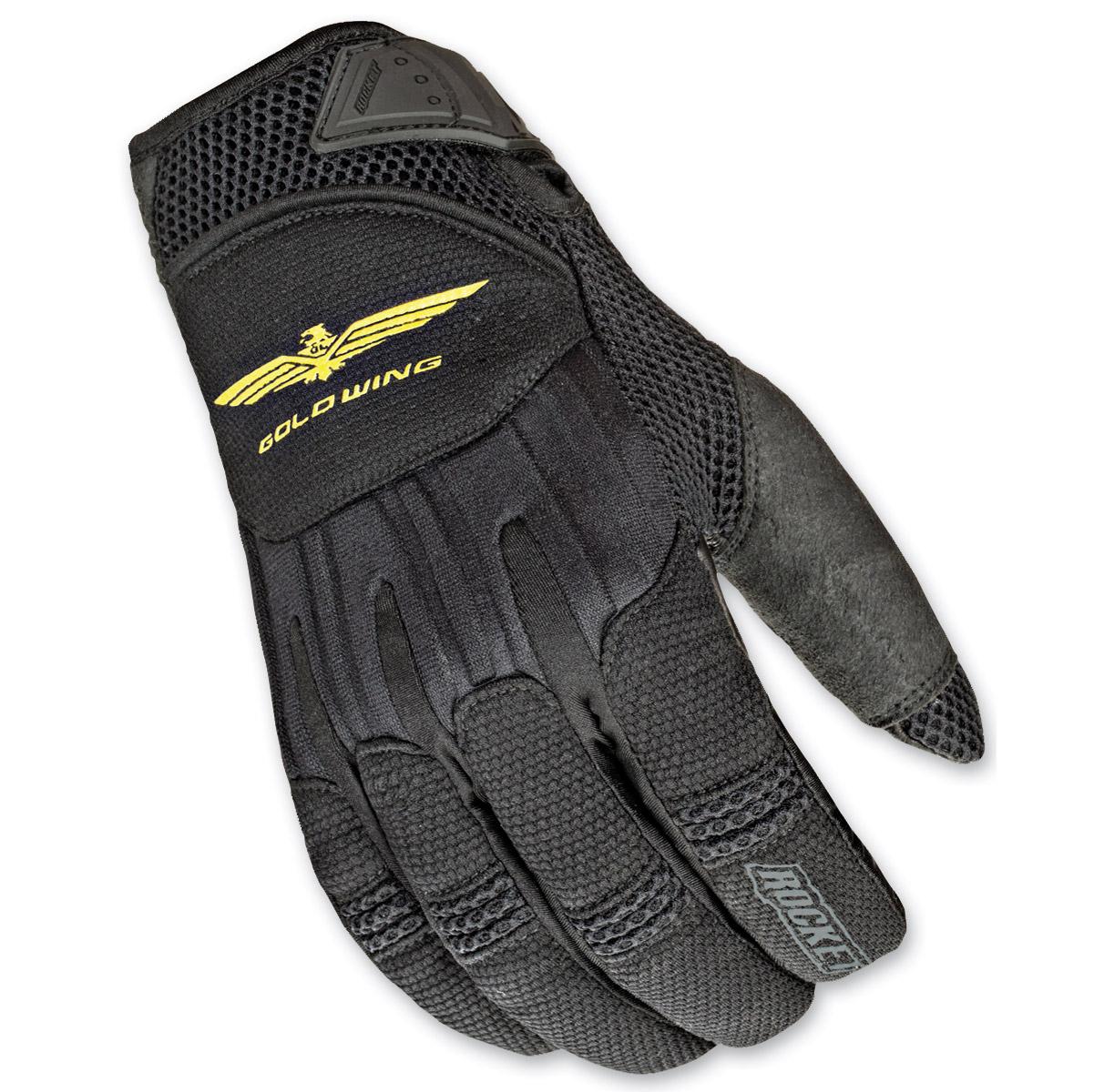 Joe Rocket Women's Goldwing Skyline Mesh Black Gloves