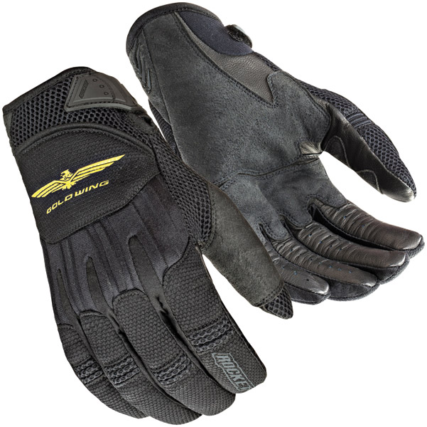 Joe Rocket Men's Goldwing Skyline Mesh Black Gloves