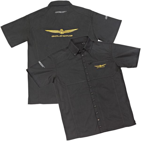Joe Rocket Men's Goldwing Black Shop Shirt