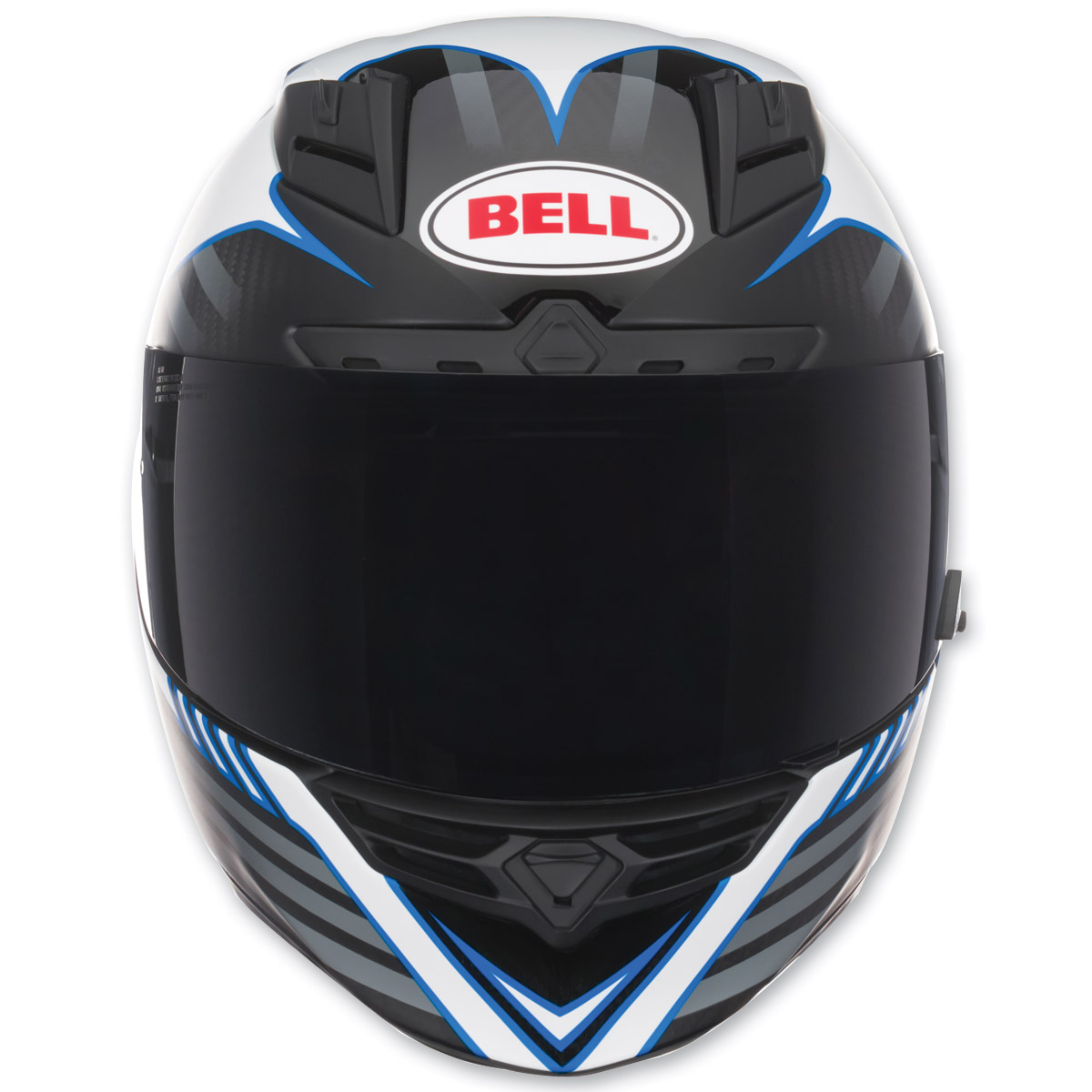 Bell Star Pinned Blue Carbon Full Face Helmet