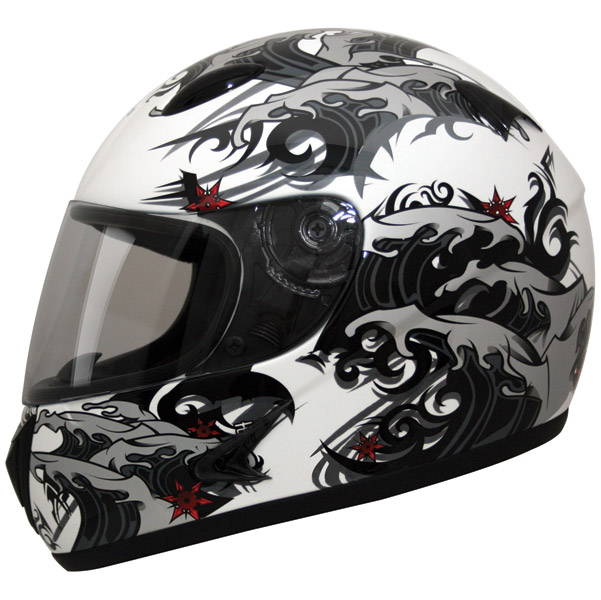 HCI-75 Storm White Full Face Helmet