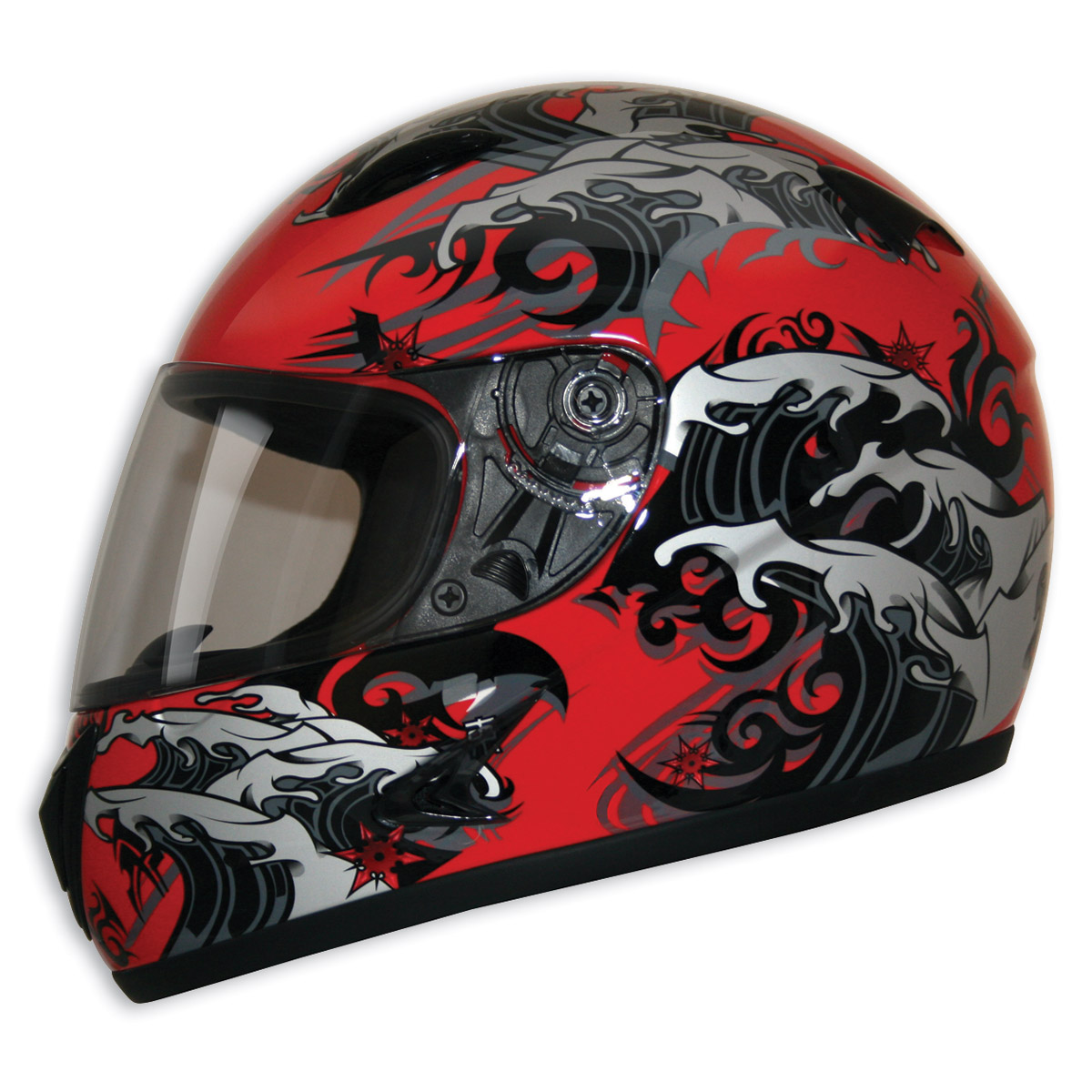 HCI-75 Storm Red Full Face Helmet