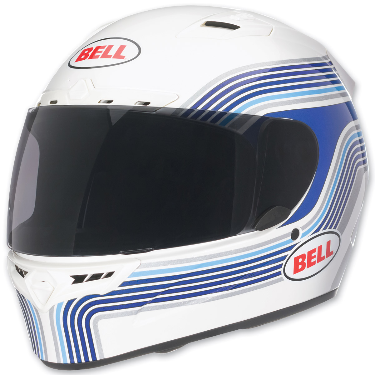 Bell Vortex Band White Full Face with Face Shield Helmet
