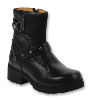 Milwaukee Motorcycle Clothing Co. Women's Delusion Black Leather Boots