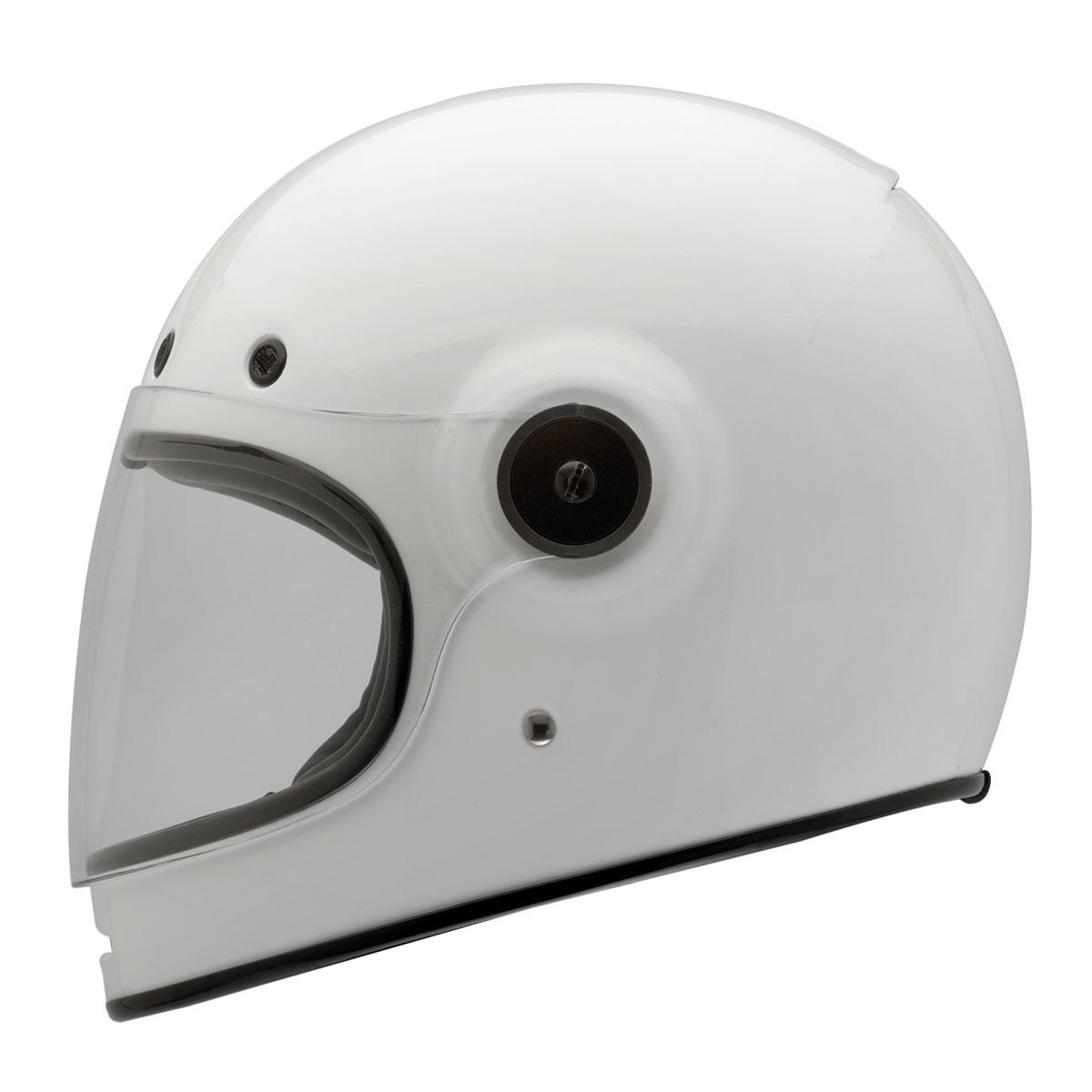 Bell Solid White Bullitt Full Face Helmet