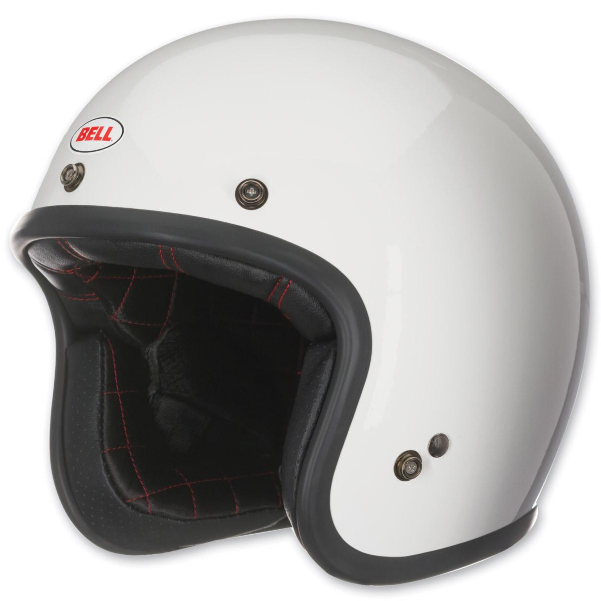 Bell Custom 500 White Open Face Helmet