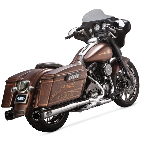Roland Sands Design Chrome Slant Slip-On Mufflers