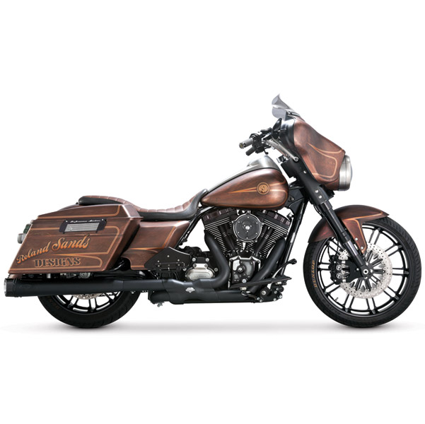 Roland Sands Design Black Slant Slip-On Mufflers