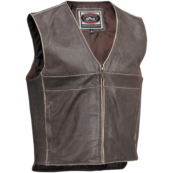 River Road Men's Drifter Brown Leather Vest