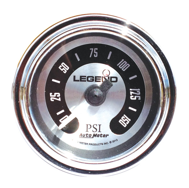 Legend LED Backlit Air Gauge-Spun Aluminum
