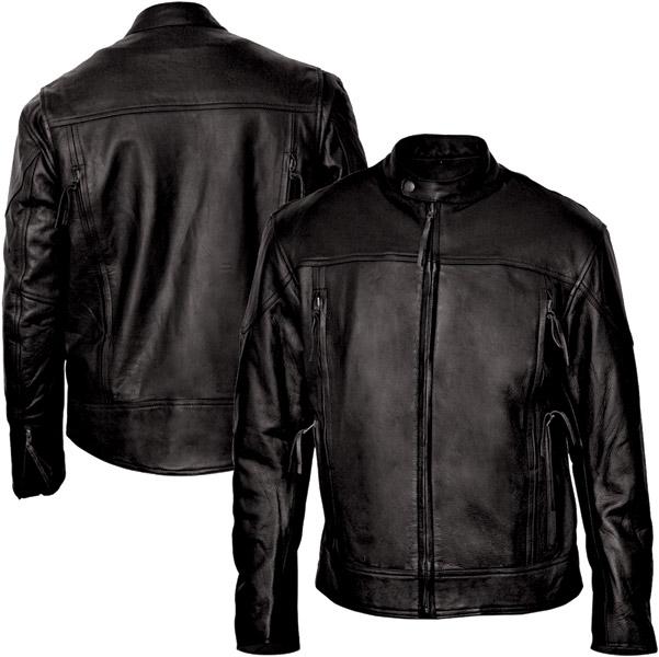 Interstate Leather Men's Beretta Black Leather Jacket