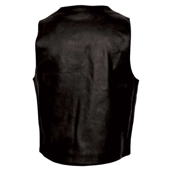 Interstate Leather Men's 10-Pocket Leather Vest
