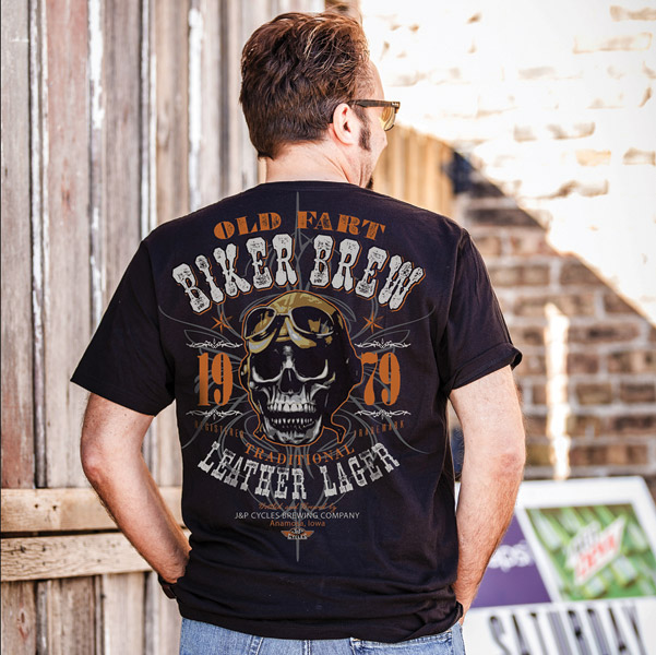 J&P Cycles® Men's Biker Brew Black T-Shirt