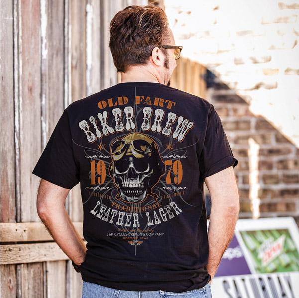 J&P Cycles® Men's Biker Brew Black T-Shirt