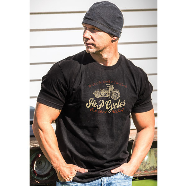 J&P Cycles® Men's Winged Classic Black T-shirt