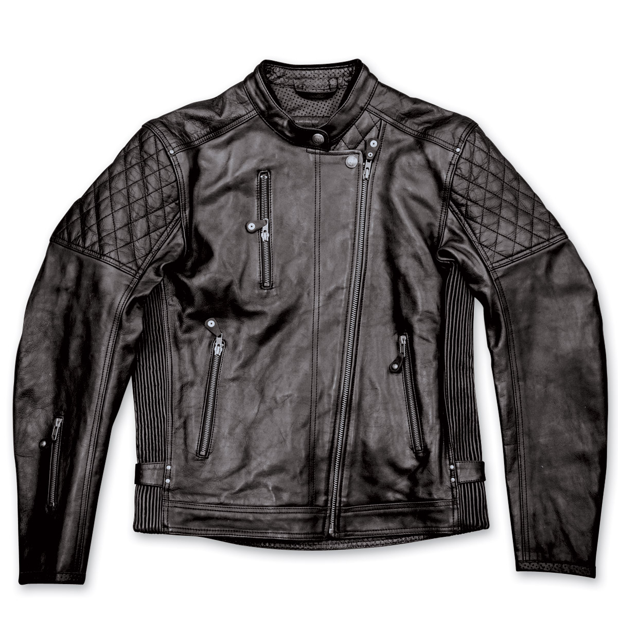 Roland Sands Design Men's Clash Black Leather Jacket