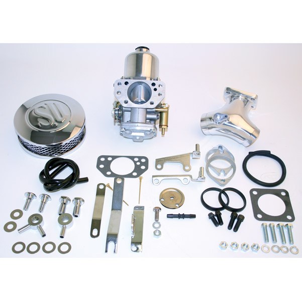 Rivera Primo Eliminator II SU Cast Carb Kit w/ Upswept Manifold