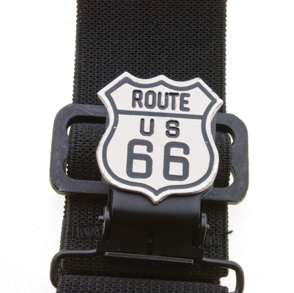 Faarken Inc. White Route 66 Biker Stirrups