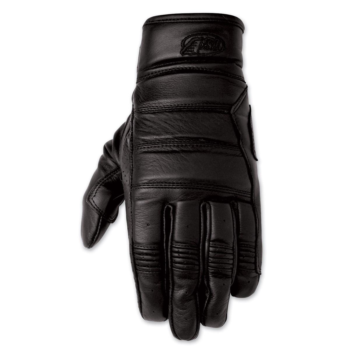 Roland Sands Design Ronin Men's Black Leather Gloves