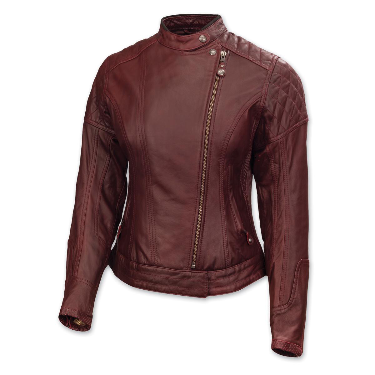Roland Sands Design Riot Ladies Oxblood Red Leather Jacket