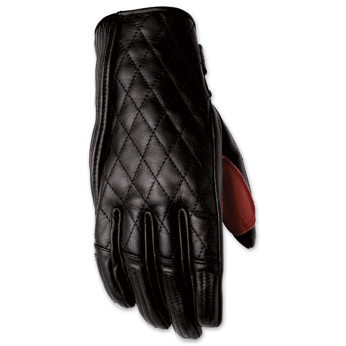Womens leather motorcycle riding gloves - Roland Sands Design Riot Ladies Black Leather Gloves