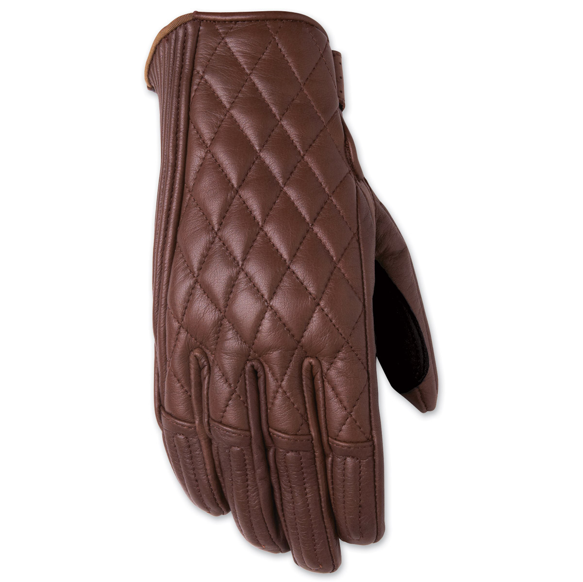 Ladies leather gloves large - Roland Sands Design Riot Ladies Tobacco Brown Leather Gloves