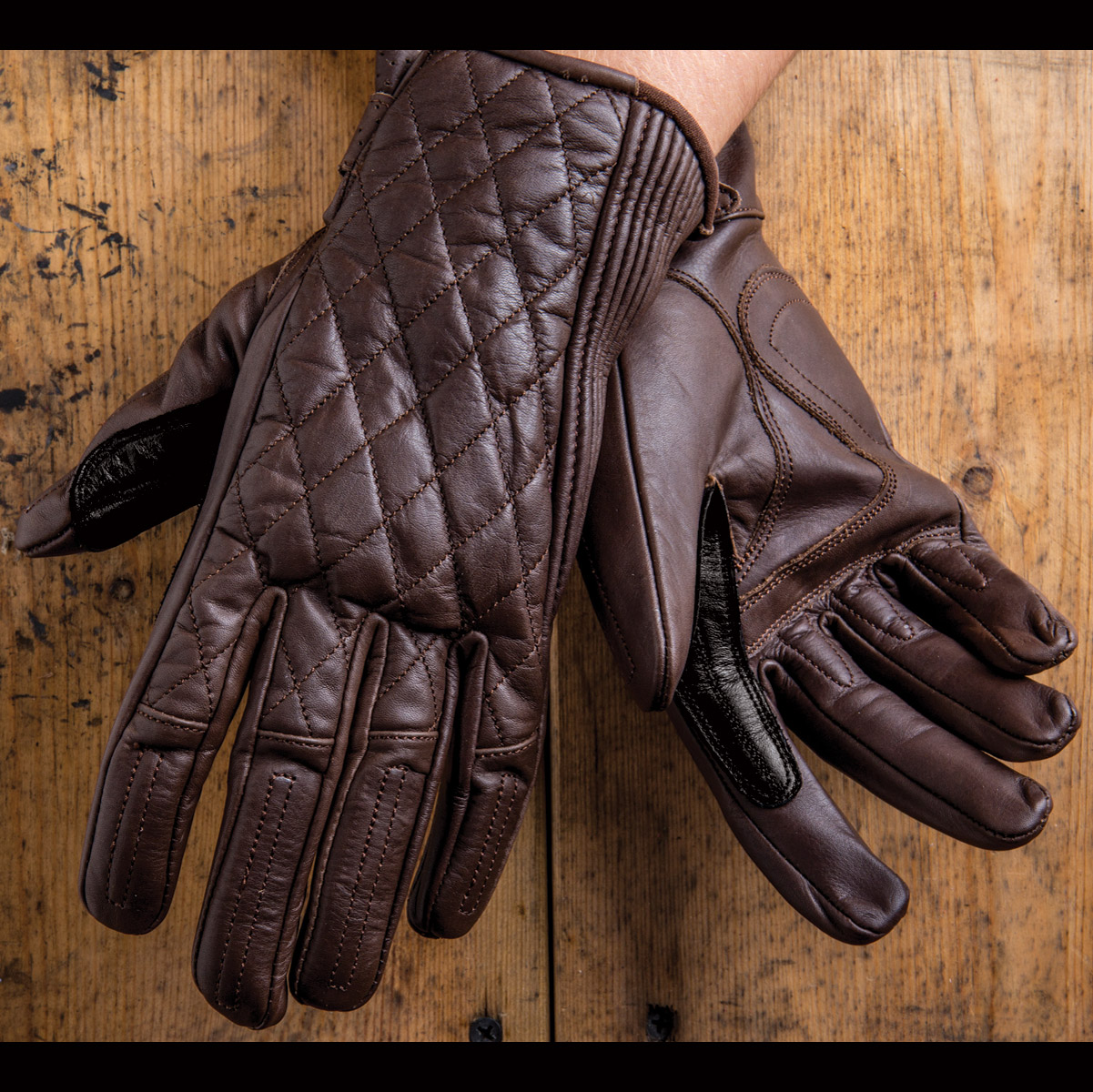 Roland Sands Design Riot Ladies Tobacco Brown Leather Gloves