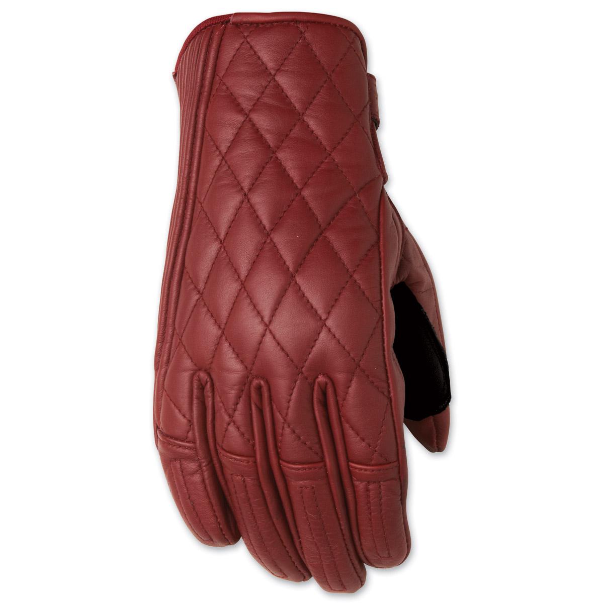 Roland Sands Design Riot Ladies Oxblood Red Leather Gloves