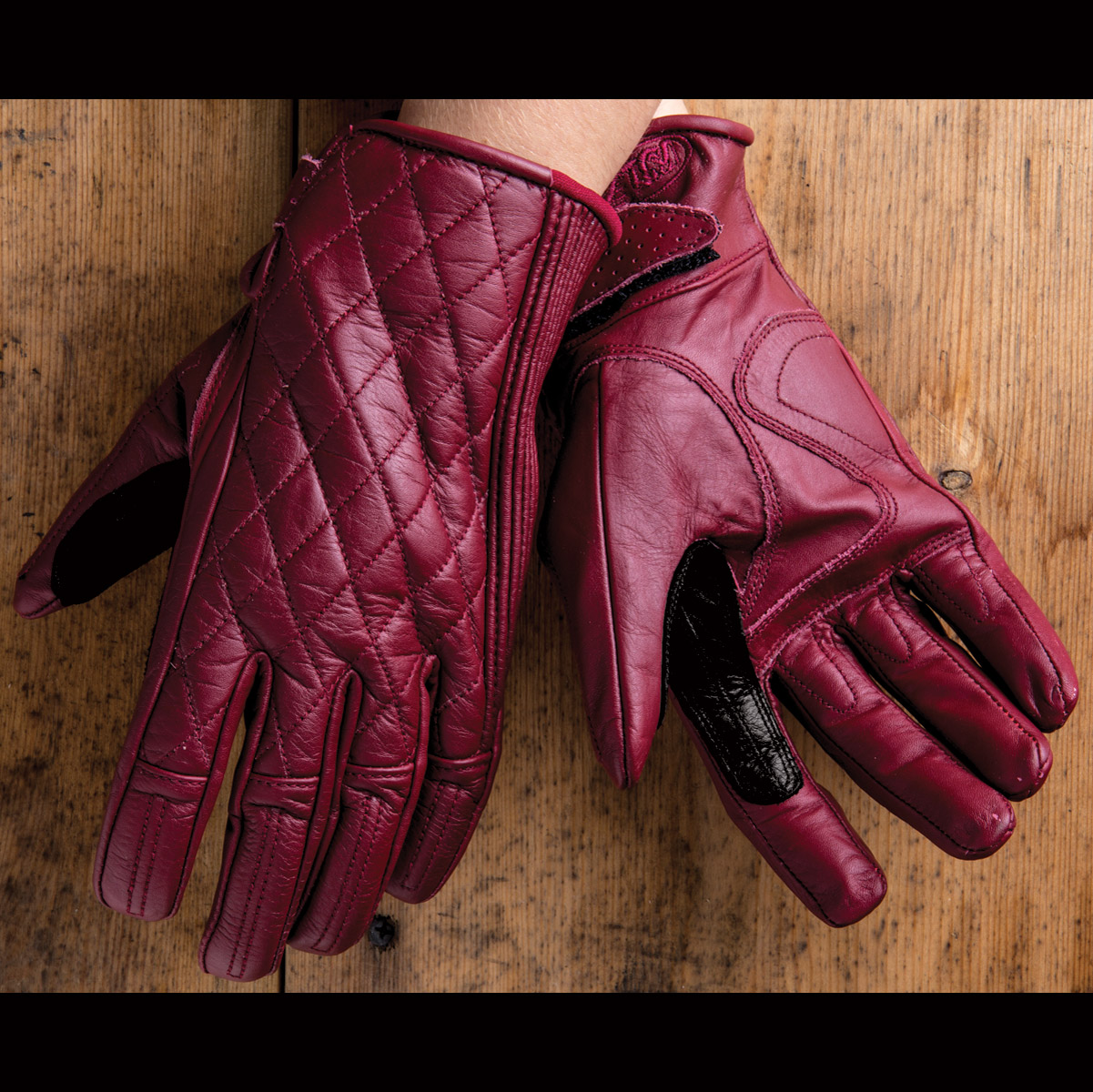 Roland Sands Design Riot Ladies Oxblood Red Leather Gloves