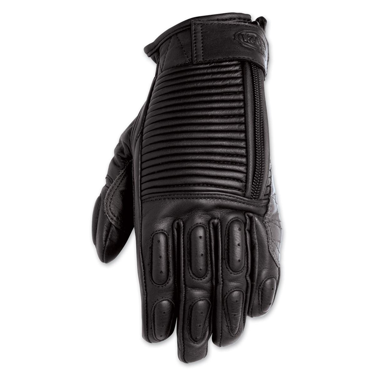 Roland Sands Design Gezel Ladies Black Leather Gloves