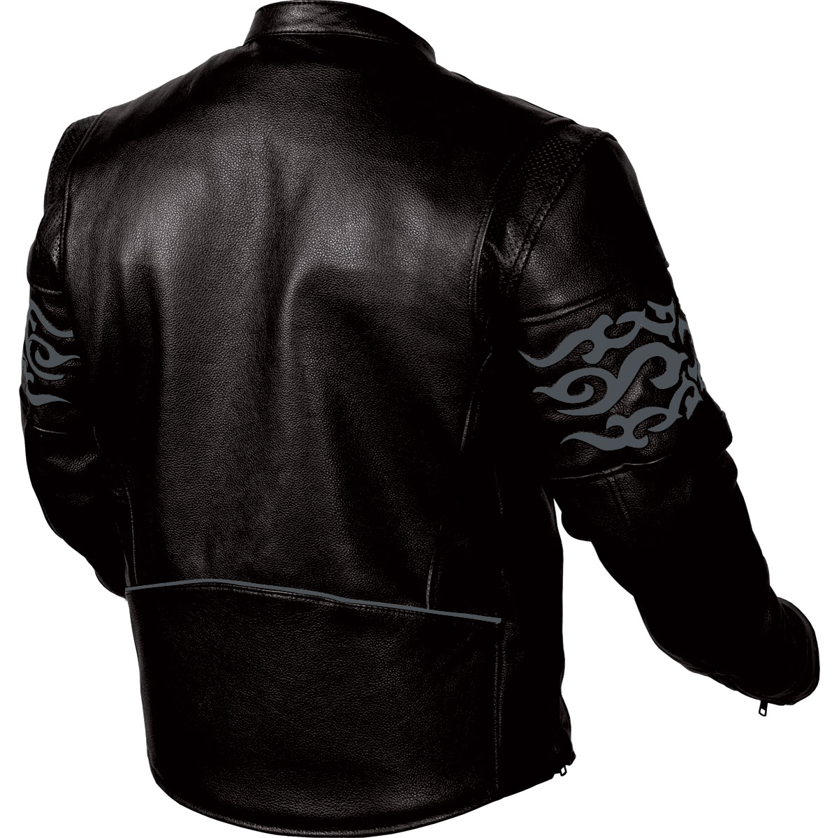 First Manufacturing Co. Tribal Reflective Leather Jacket
