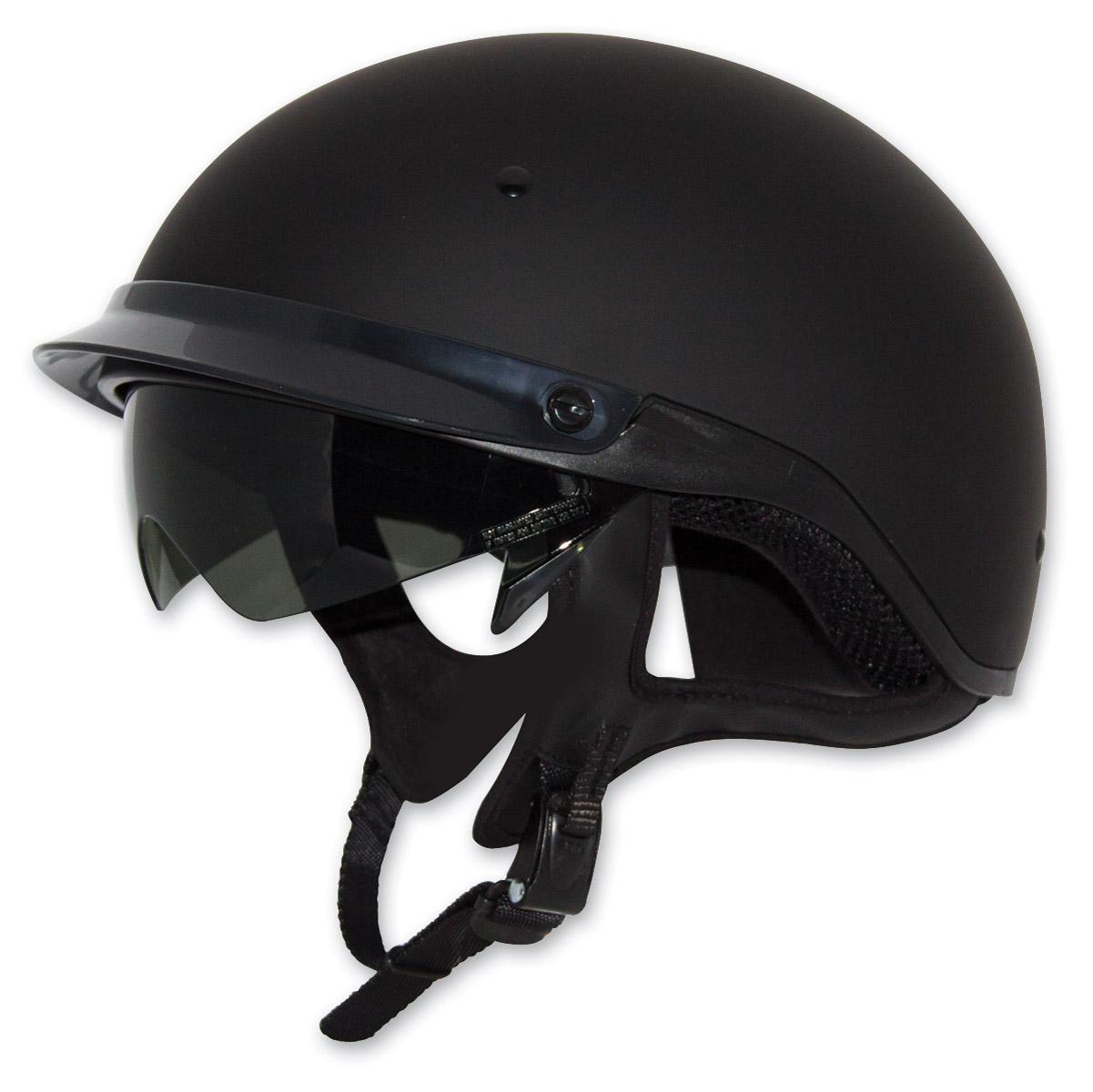 Zox Roadster DDV Matte Black Half Helmet