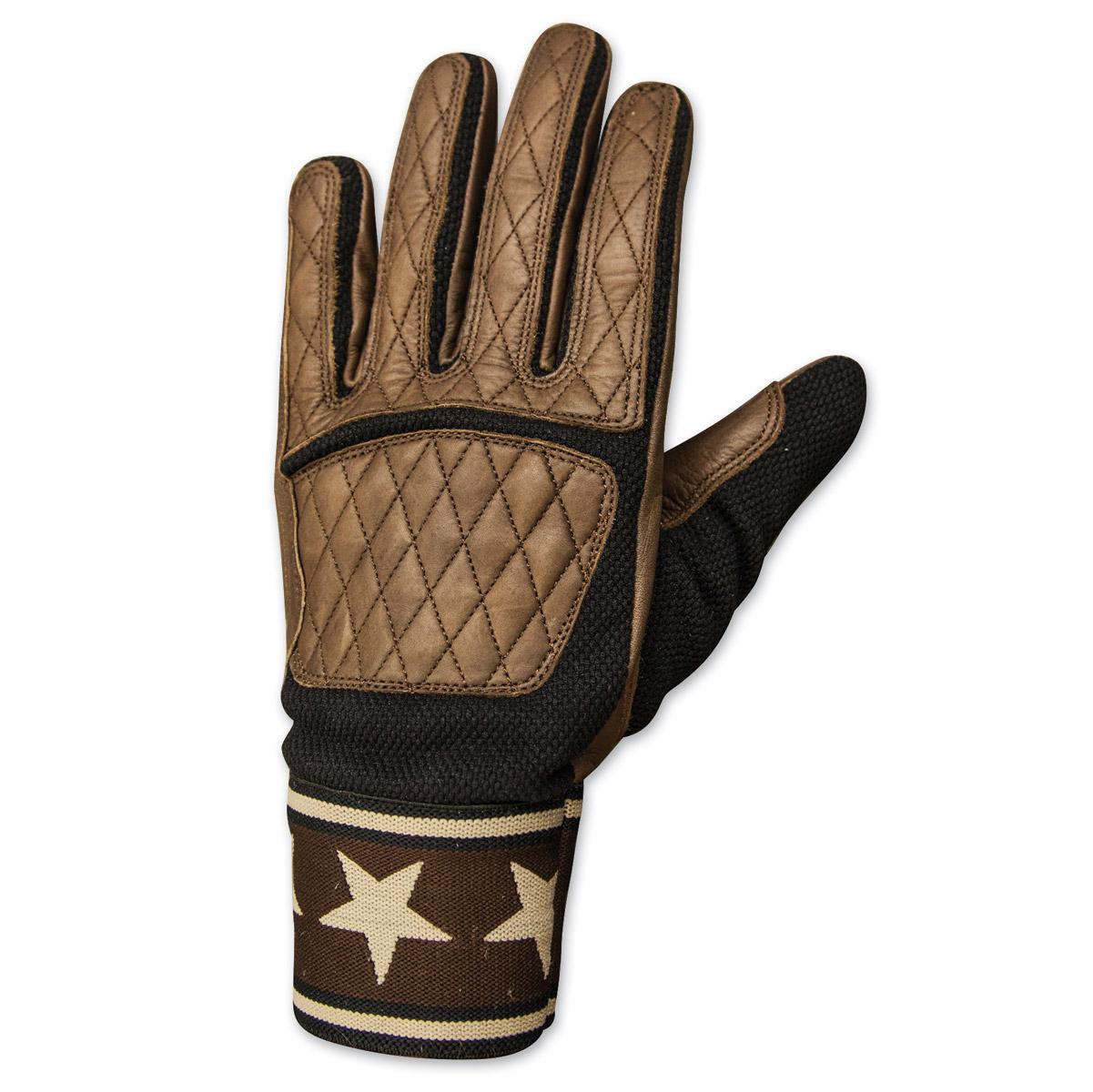 Roland Sands Design Men's Peristyle Tobacco/Black Leather Gloves