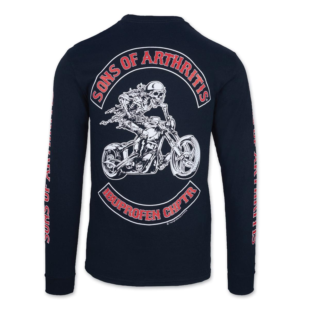 Sons of Arthritis Men's Ibuprofen Chapter Black Long-Sleeve T-Shirt