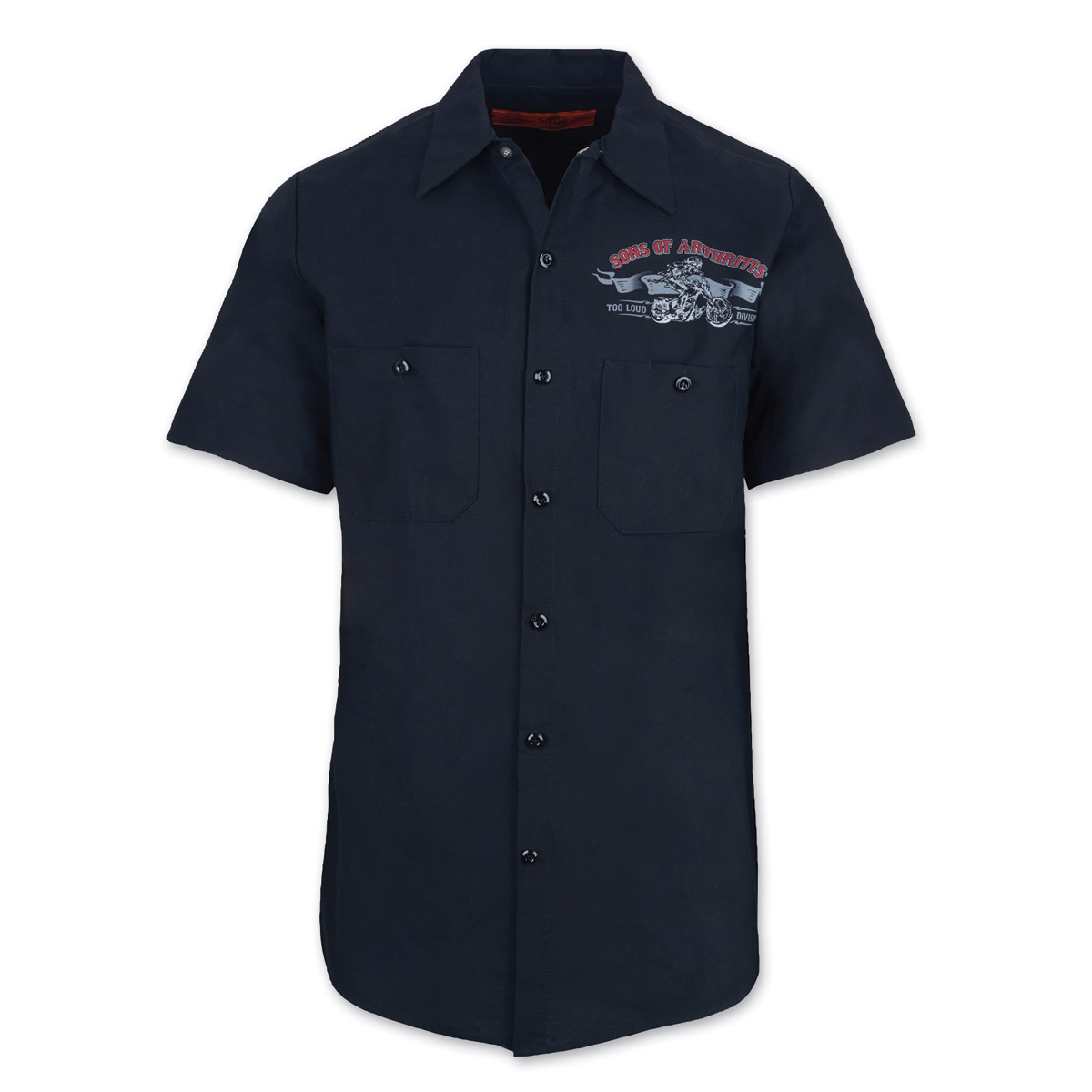 Sons of Arthritis Men's Ibuprofen Chapter Black Work Shirt