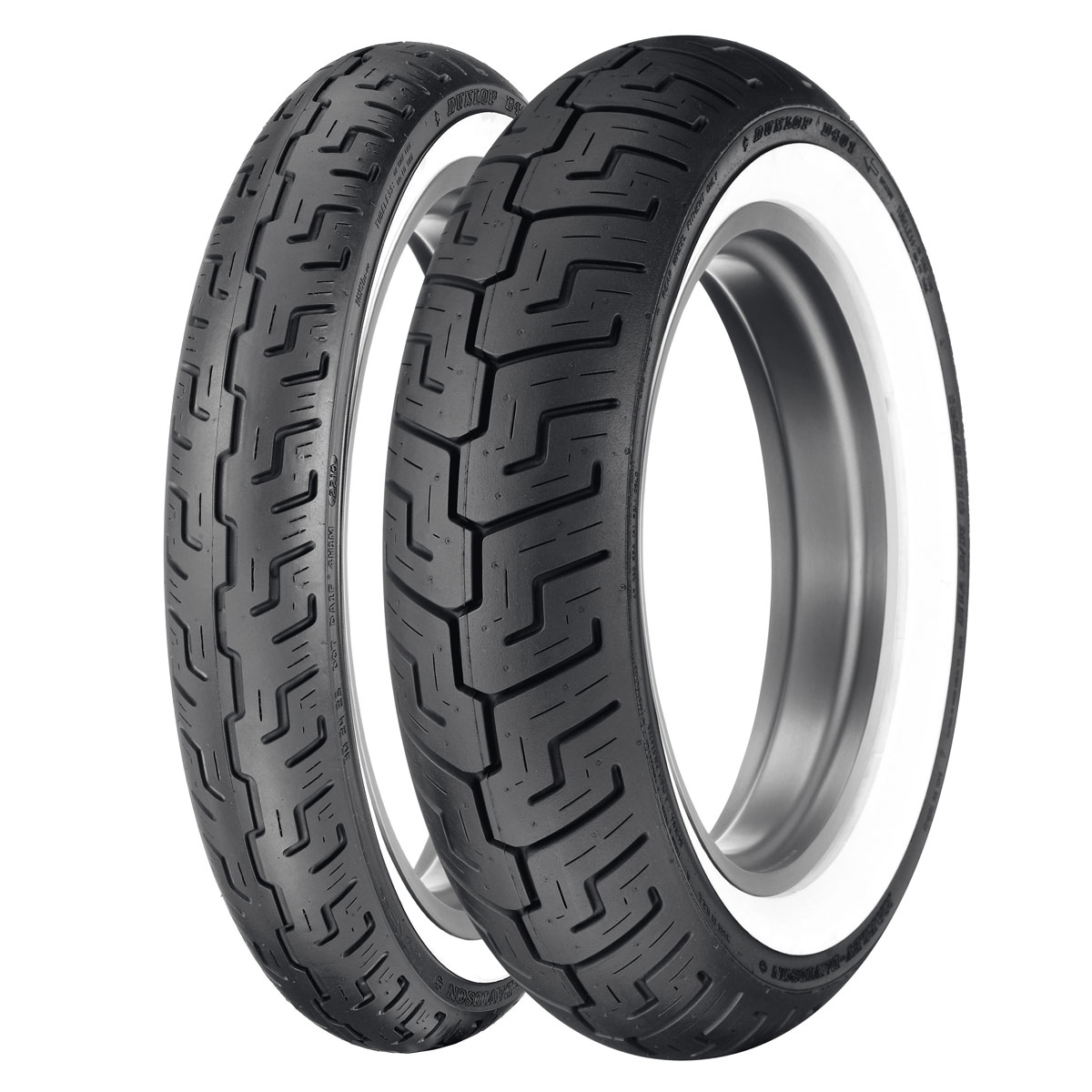 Dunlop D401 100/90-19 Wide Whitewall Front Tire