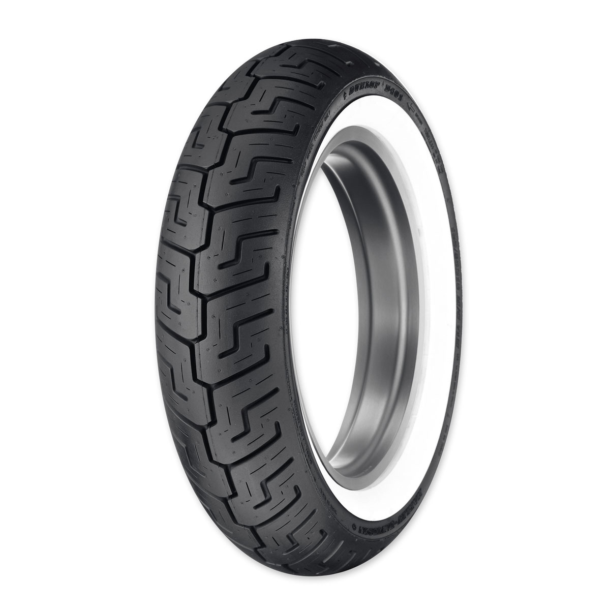 Dunlop D401 150/80B16 Wide Whitewall Rear Tire
