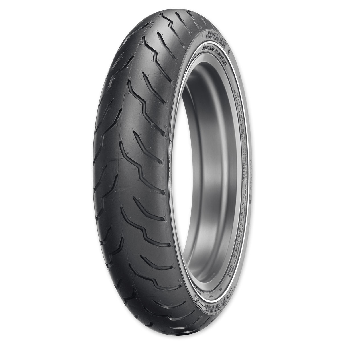 Dunlop American Elite MT90B16 72H Narrow White Stripe Front Tire