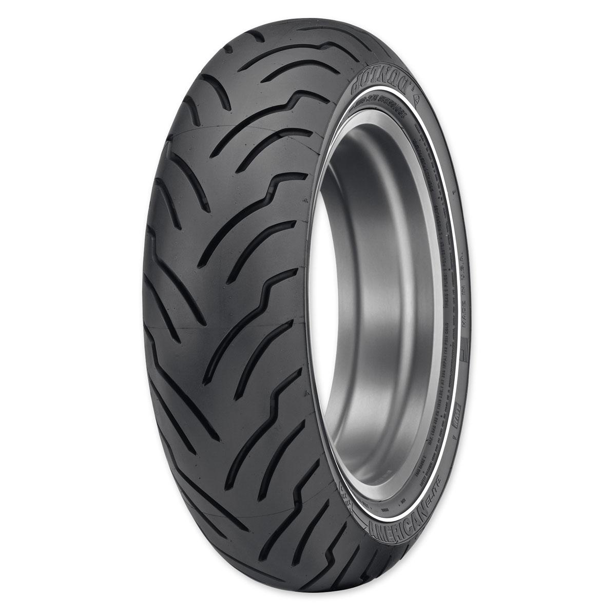 Dunlop American Elite MU85B16 77H Narrow White Stripe Rear Tire