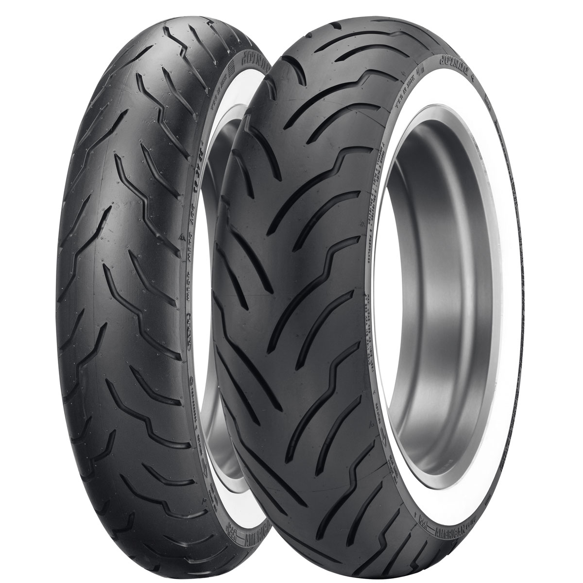 Dunlop American Elite MU85B16 Wide Whitewall Rear Tire
