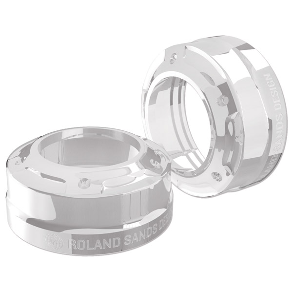 Roland Sands Design Misano Chrome 41mm Fork Dust Caps