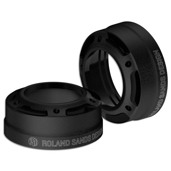 Roland Sands Design Misano Black Ops 41mm Fork Dust Caps