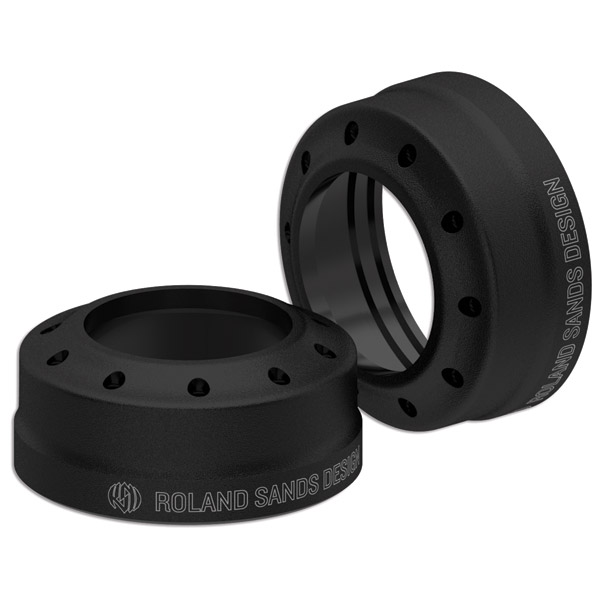 Roland Sands Design Tracker Black Ops 39mm Fork Dust Caps