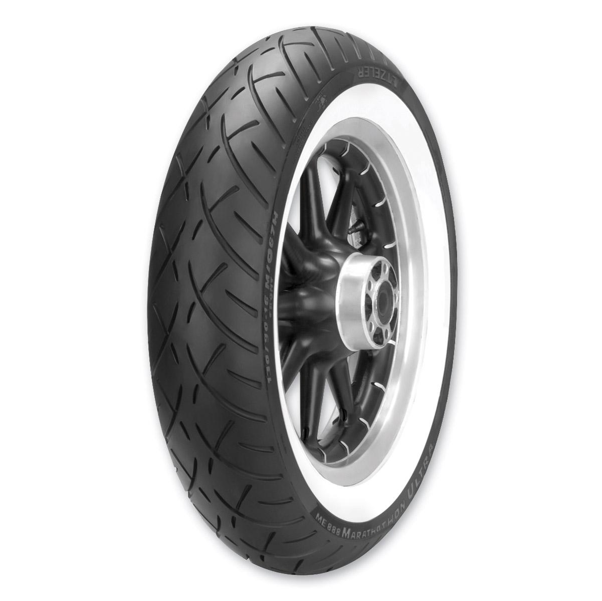 Metzeler ME888 Marathon Ultra 130/80B17 Wide Whitewall Front Tire