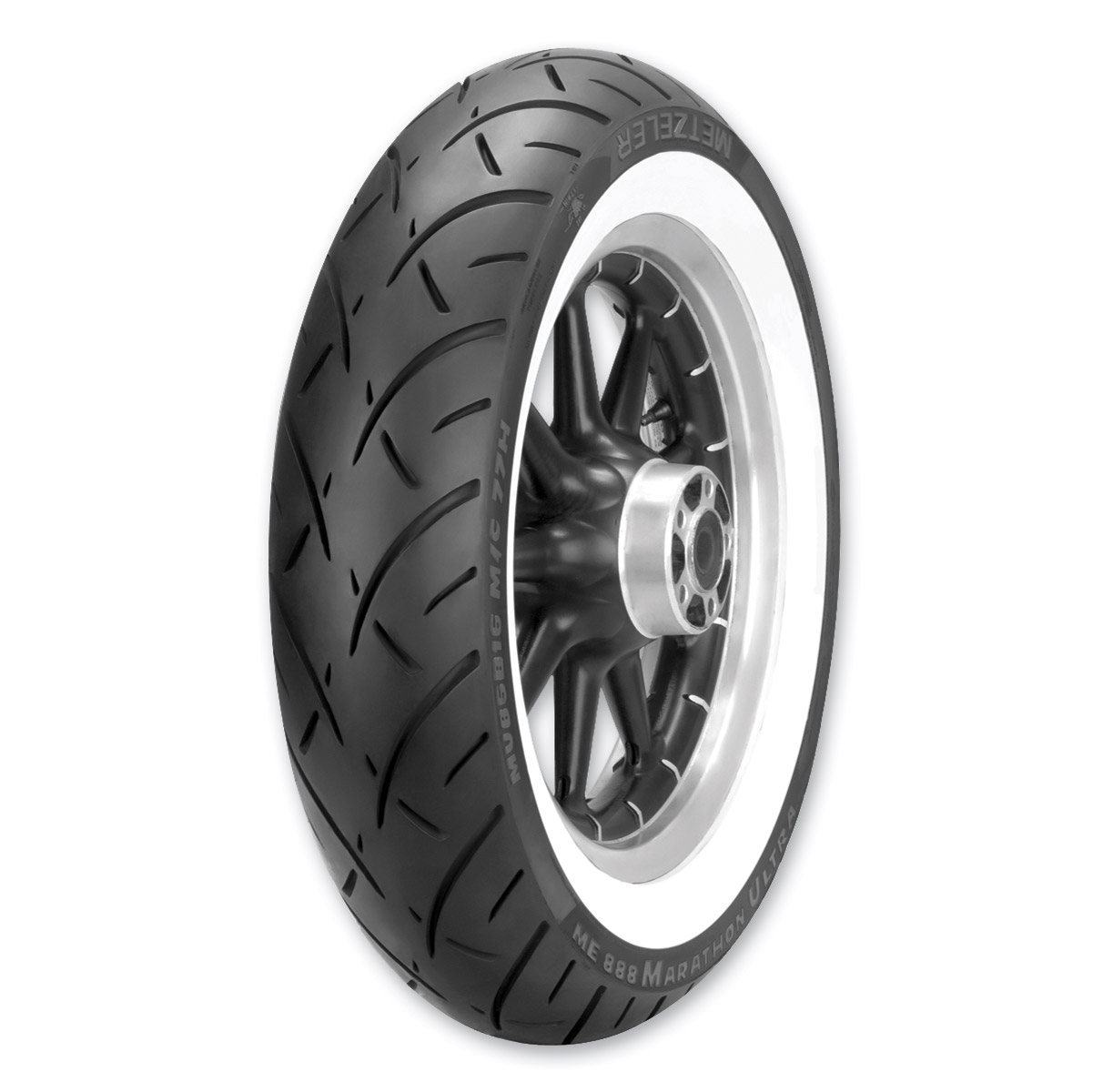 Metzeler ME888 MU85B16 Wide Whitewall Rear Tire