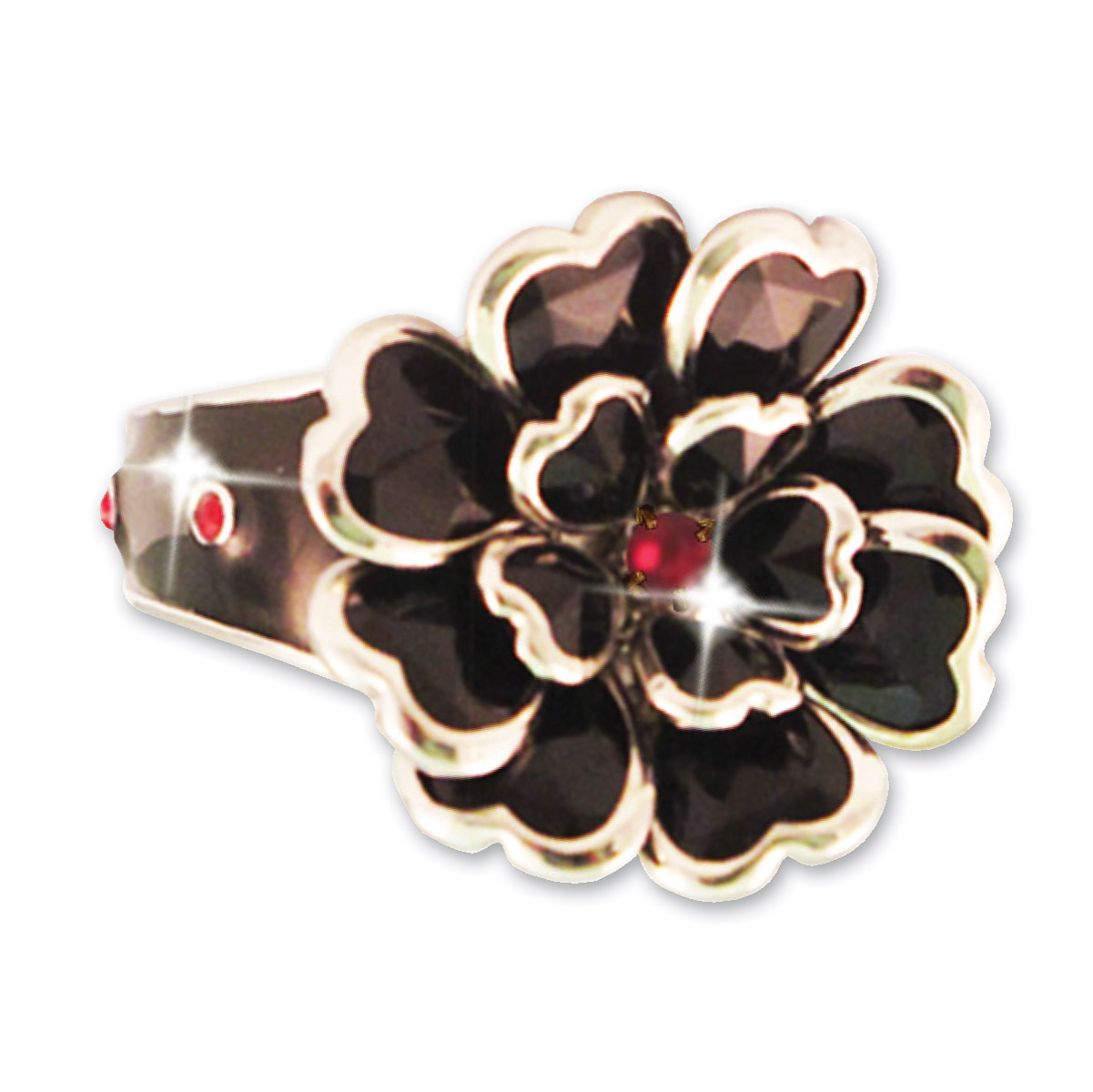 Hair Ringz Heart Petals with Ruby Stones
