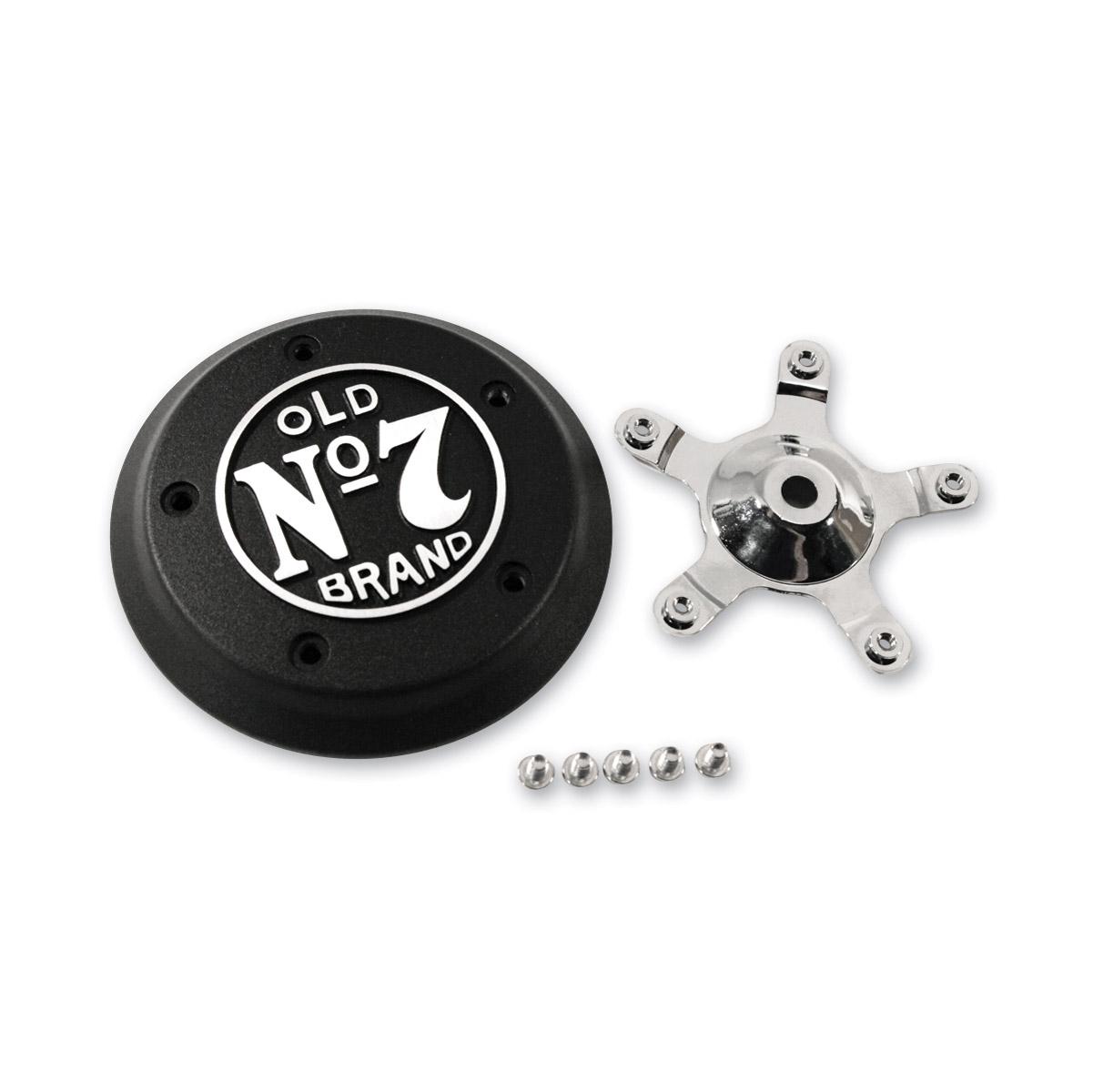 Jack Daniel's Black Wrinkle 5-bolt Air Cleaner Insert