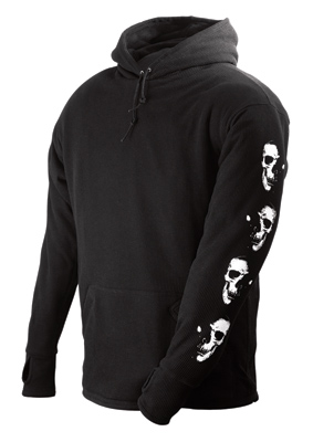 Schampa Men's Old School Fleece Lined Thermal Black Hoodie