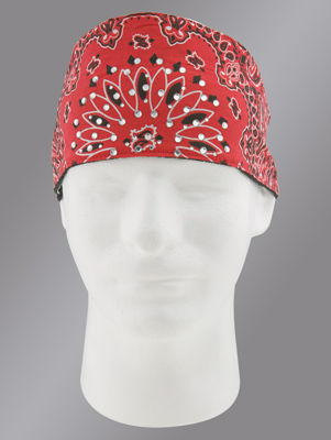 Chop Top Paisley Red with Rhinestones Doo Wrap